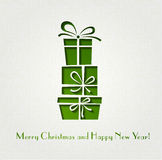 Christmas gift  decoration background Royalty Free Stock Photography