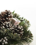 Christmas Gift. Christmas decoration made of pinecones and knick knacks Royalty Free Stock Image