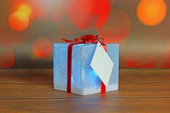 Christmas gift with decorations Stock Images