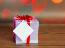 Christmas gift with decorations Stock Photos