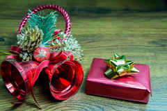 Christmas gift and decorations Stock Photography