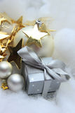 Christmas gift and decorations Stock Photos