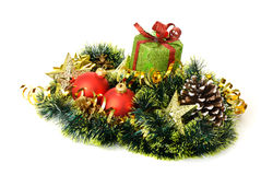 Christmas gift and decorative objects. Stock Image