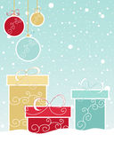 Christmas gift design Royalty Free Stock Images