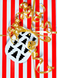 Christmas gift detail Royalty Free Stock Image