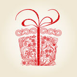 Christmas gift Doodle Stock Photography