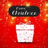 Christmas gift easy. All editable Stock Image