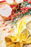 Christmas gift and festive decoration Royalty Free Stock Photo