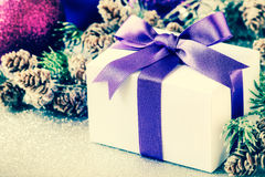 Christmas gift filtered image Stock Photo