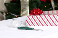 Christmas Gift Foreground Royalty Free Stock Photos