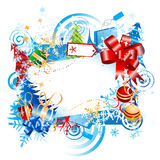 Christmas gift, frame Royalty Free Stock Photos