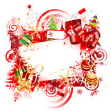 Christmas gift, frame Royalty Free Stock Images