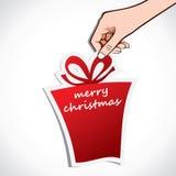 Christmas gift in hand Stock Photo
