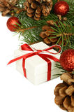 Christmas gift and holiday decorations Royalty Free Stock Photos