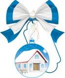 Christmas gift - a house stock image