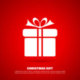 Christmas gift icon Royalty Free Stock Photos
