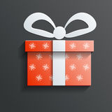 Christmas Gift icon vector with shadow Royalty Free Stock Images
