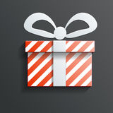 Christmas Gift icon vector with shadow Stock Image