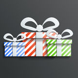 Christmas Gift icon vector with shadow Royalty Free Stock Photos