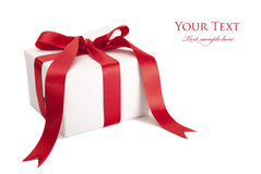 Christmas gift isolated Royalty Free Stock Image