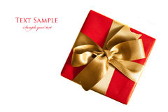 Christmas gift isolated Stock Image