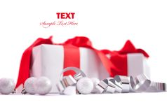 Christmas gift isolated Stock Photography