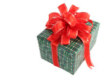 Christmas Gift Isolated Royalty Free Stock Photo
