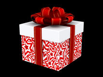 Christmas gift isolated on black Stock Image