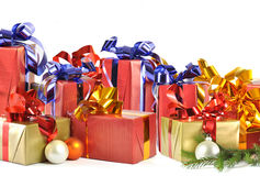 Christmas gift isolated on white background Royalty Free Stock Photography