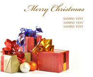 Christmas gift isolated on white background Royalty Free Stock Photo