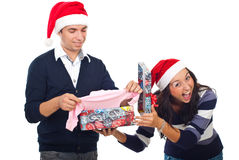 Christmas gift joke Royalty Free Stock Image
