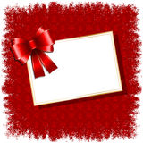 Christmas gift label background Royalty Free Stock Photography