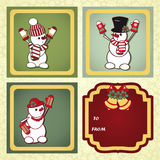 Christmas gift labels Stock Photography