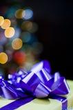 Christmas gift and lights Royalty Free Stock Photography