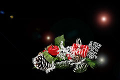 Christmas gift. With lights over a black background Royalty Free Stock Photo