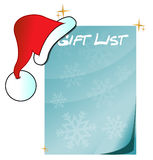 Christmas gift list illustration Stock Photos