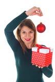 Christmas gift made with love Stock Image