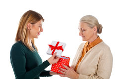 Christmas gift made with love Royalty Free Stock Photo