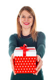 Christmas gift made with love Royalty Free Stock Photography