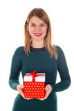 Christmas gift made with love Royalty Free Stock Image