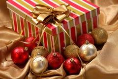 Christmas gift and ornament balls Stock Image