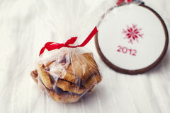 Christmas gift package. Stock Photography