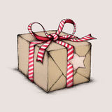 Christmas gift package. Illustration of a gift package for christmas Stock Photography