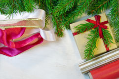 Christmas gift and package items Royalty Free Stock Photography