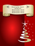 Christmas Gift page, vector Royalty Free Stock Photo
