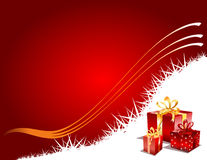 Christmas Gift page, vector Stock Photos
