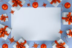 Christmas gift Postcard stock illustration