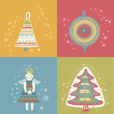 Christmas  gift present pattern Royalty Free Stock Image