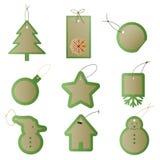 Christmas gift present tags Stock Photo