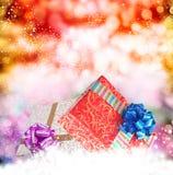 Christmas.Gift pudełka obrazy royalty free